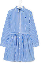 Ralph Lauren long-sleeved shirt dress - kids - Cotton - 2 yrs