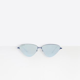 Balenciaga Sunglasses in electric blue metal with electric blue lenses