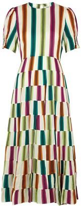 Diane von Furstenberg Zadie striped midi dress