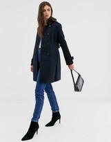Fashion Union smart longline double breasted coat