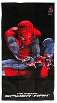 Spiderman Print Terry Bath Towel, 20X40 (Black)
