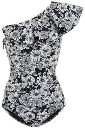 Lisa Marie Fernandez One-shoulder Ruffled Floral-print Swimsuit
