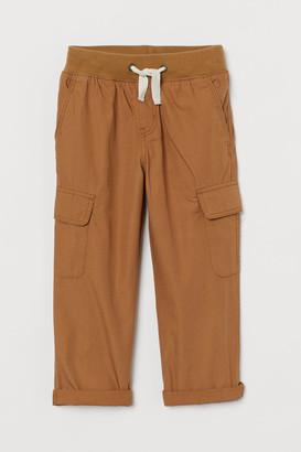 H&M Cotton Cargo Pants - Beige