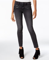 GUESS Black Wash Moto Skinny Jeans