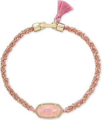 Kendra Scott Elaina Gold Friendship Bracelet in Rose Quartz