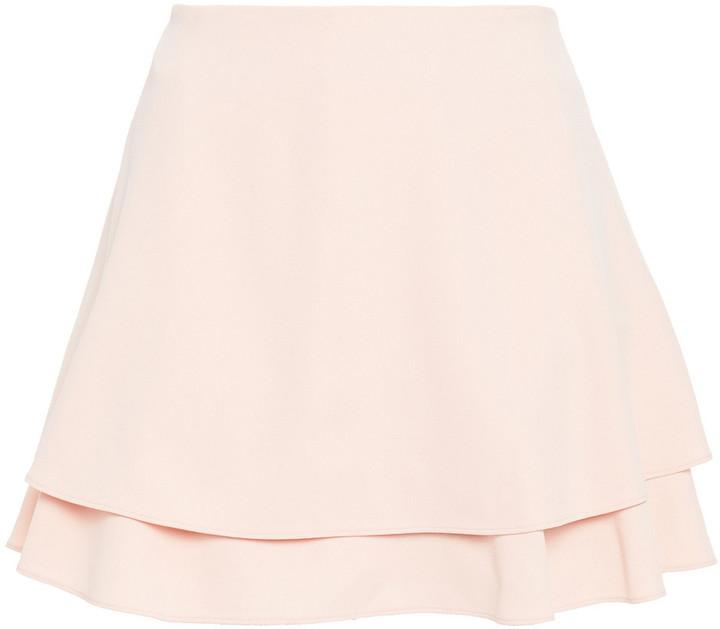 Alice + Olivia Layered Crepe Shorts