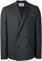 Kolor embroidered two-piece suit - men - Wool - 3