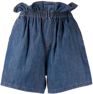 Philosophy di Lorenzo Serafini paperbag denim shorts