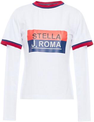 Stella Jean Printed Stretch-cotton Jersey Top