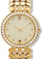 Harry Winston 18K Yellow Gold Diamond Evening Mens Watch