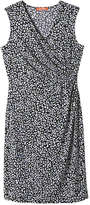 Joe Fresh Women's Print Wrap Dress, Navy (Size M)