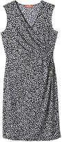 Joe Fresh Women's Print Wrap Dress, Navy (Size S)