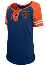 5th & Ocean Chicago Bears Women's Logo Lace Up T-Shirt