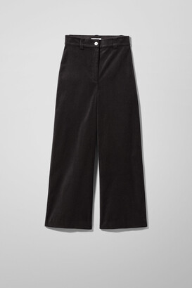Weekday Billie Trousers - Black