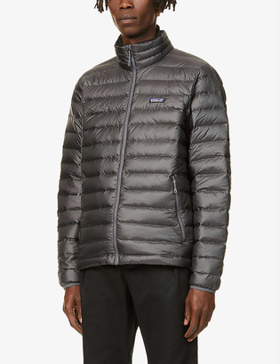 Patagonia Padded high-neck recycled polyester shell-down jacket