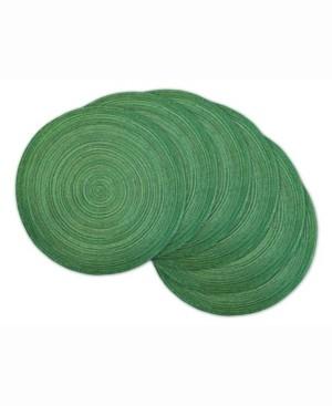 Design Imports Variegated Lurex Round Polypropylene Woven Placemat, Set of 6