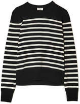 Saint Laurent Marino Striped Cashmere Sweater - Black
