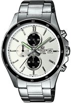 Edifice Casio Casio Men's Watch Analogue Quartz EFR-504SP-7AVEF with Silver Steel Strap White Dial