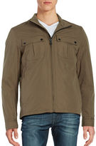 Cole Haan Solid Zip-Front Jacket