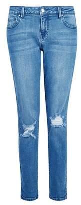 Dorothy Perkins Womens Blue 'Boyfriend' Loose Fitting Ankle Grazer Jeans, Blue