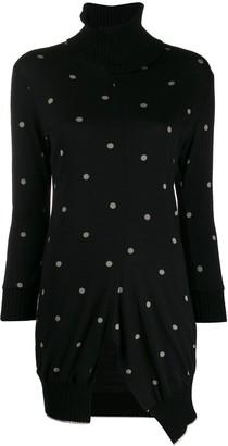 Yohji Yamamoto Pre-Owned 2000s asymmetric polka dot jumper