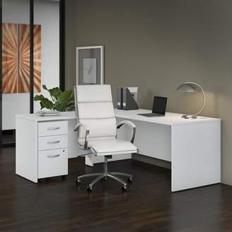Bush Business Furniture Studio C Desk 3 Piece Set Bush Business Furniture Color: White
