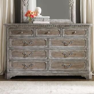 Hooker Furniture True Vintage 9 Drawer Dresser with Mirror