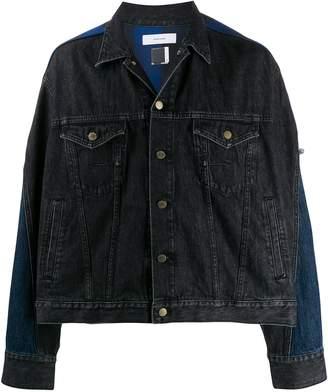 Facetasm combined trucker denim jacket