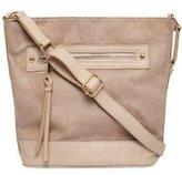 Dorothy Perkins Womens Grey Zip Bucket Bag- Grey