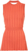 Maison Margiela belted knitted top