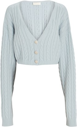 Ronny Kobo Phyllis Cropped Cable Knit Cardigan