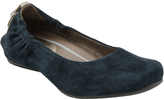 Earthies Forest Green Suede Tolo Flat