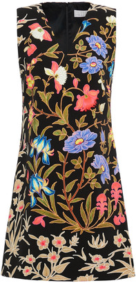 Peter Pilotto Floral-print Stretch-crepe Mini Dress