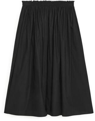 Arket Elastic-Waist Midi Skirt