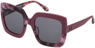 Carolina Herrera Square Two-Tone Acetate Sunglasses
