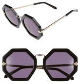 Karen Walker 'Moon Disco' Octagonal 53mm Sunglasses