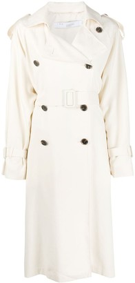 IRO Double-Breasted Belted Trench Coat
