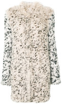 Ulla Johnson leopard print fur coat - women - Rabbit Fur/Polyester/Spandex/Elastane - S