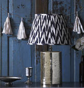 Pooky lighting The Alvie Table Lamp With Shade In Black Zig Zag