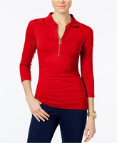 MICHAEL Michael Kors Ruched Polo Top