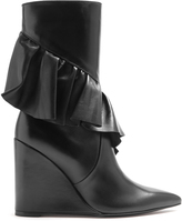 J.W.Anderson Ruffled leather mid-calf boots