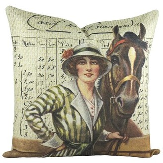 Bally Loon Peak Hayfork Derby Cotton Throw Pillow Loon Peak