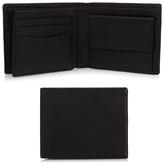Jeff Banks Designer Black Leather Stitched Wallet