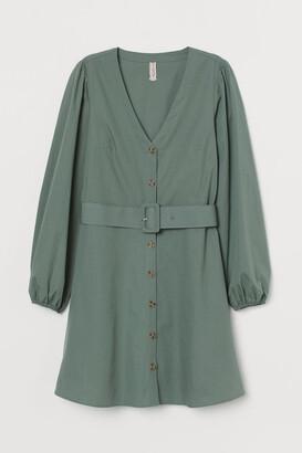 H&M Cotton poplin dress