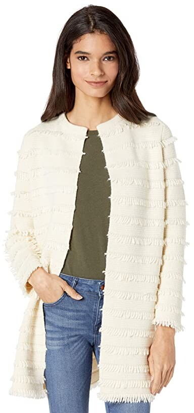 Thumbnail for your product : J.Crew Fringe Collarless Sweater-Blazer Women's Sweater