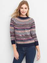 Gap Limited Edition sequin fair isle pullover sweater