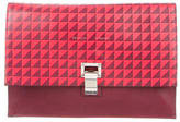 Proenza Schouler Graphic Print Leather Lunch Clutch