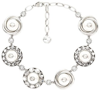 Gucci Logo Detail Glass Pearl Bead Necklace