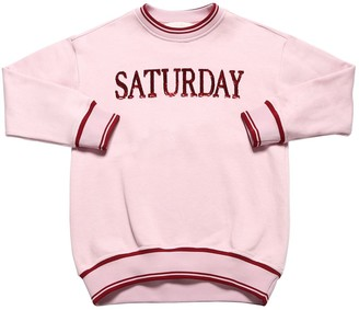 Alberta Ferretti Saturday Sequins Cotton Sweatshirt