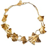 Tory Burch Ginkgo Leaf Short Necklace